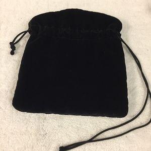 Handbags - Black velvet pouch